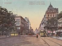 1911, Rákóczi út a Kossuth Lajos utca felé nézve