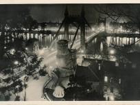 1939, a régi Erzsébet híd és a budai hídfő, 1. kerület (1950-től)