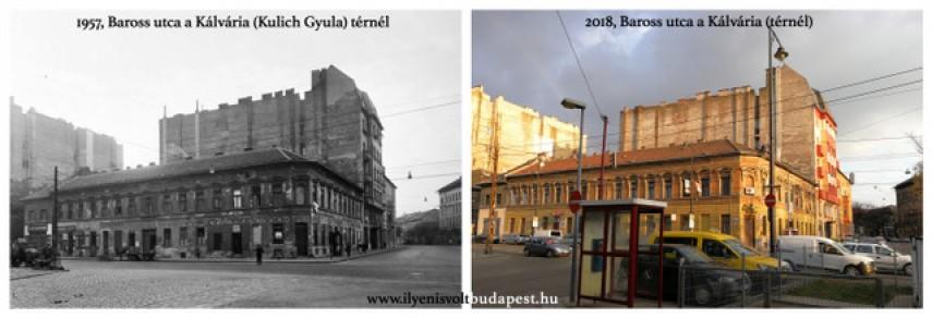 1957 és 2018, Baross utca, 8. kerület