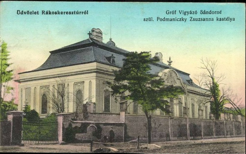 1910-es évek, Pesti út, a Podmaniczky kastély,17. kerület