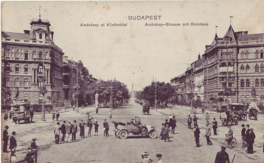 1910 táján, Körönd (Kodály körönd), 6. kerület