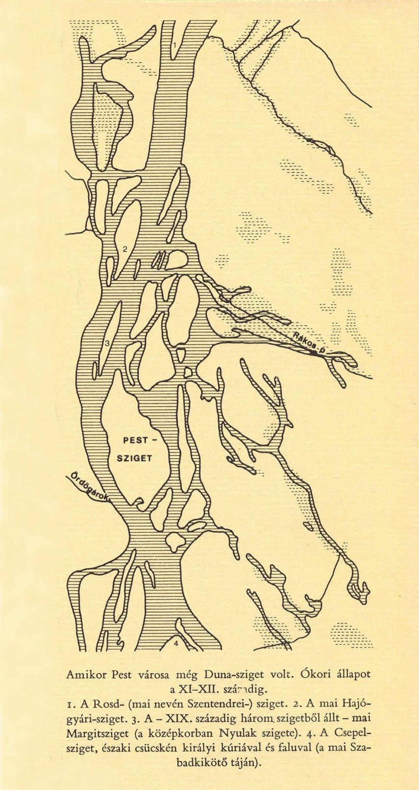 XI.-XII. század, a Duna Pestnél