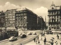 1950-es évek vége, Rákóczi út a Kiskörútnál, 7. és 5. kerület