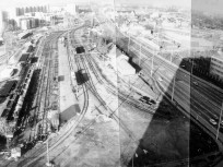 1980-as, Szentendrei út, a Filatorigát pályaudvar, 3. kerület