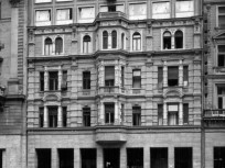 1961, Csokonai utca a Rákóczi út felé nézve, 8. és 7. kerület