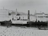 1890, Pesti alsó rakpart, Ipolyságh (1870) vontató kerekes gőzhajó