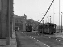 1968, Erzsébet híd a Gellért-hegy felé nézve, 5. és 1. kerület