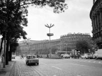 1976, Marx (Nyugati) tér a Váci út felől nézve, 13., 6., 5. kerület