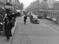 1948, Kossuth Lajos utca a Rákóczi út felé nézve, 7. és 8. kerület