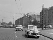 1963, Baross tér a Rottenbiller utca felől nézve, 8. kerület