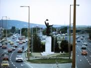 1980, M1-M7 közös szakasza a Balatoni útnál, 11. kerület