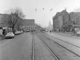 1971, Vörösvári út a Flórián tér felé nézve, 3. kerület