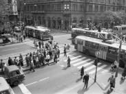 1983, Lenin (Erzsébet) körút és a Majakovszkij utca kereszteződés, 6. és 7. kerület