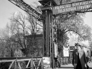 1953, ÓBUDA a Hajógyári-sziget emelőhídja, azaz a Remmel-híd, 3. kerület