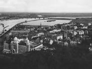 1926, kilátás a Gellérthegyről dél felé