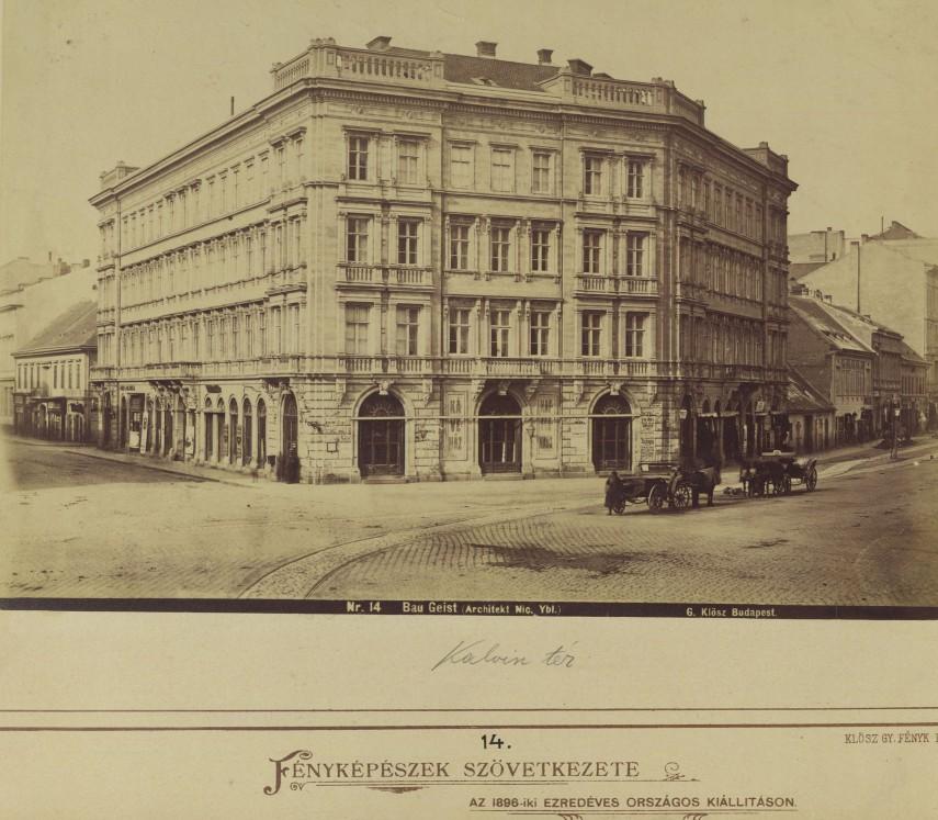 1879, Calvin (Kálvin) tér, 4. (1950-től) 5. kerület
