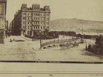 1875 táján, Felső Duna sor, Obere Donau Zeile (Eötvös tér) a Ferenc József (Széchenyi István)  tér felől, 4. (1950-től 5.) kerület