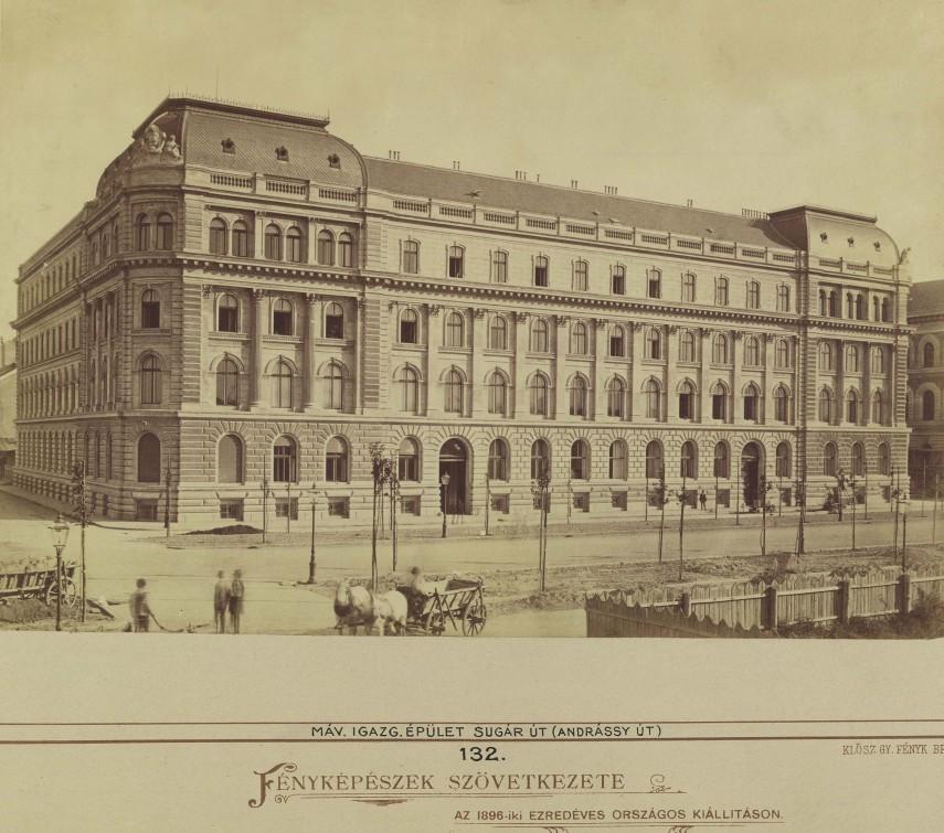 1878 táján Sugár (Andrássy) út, 6. kerület