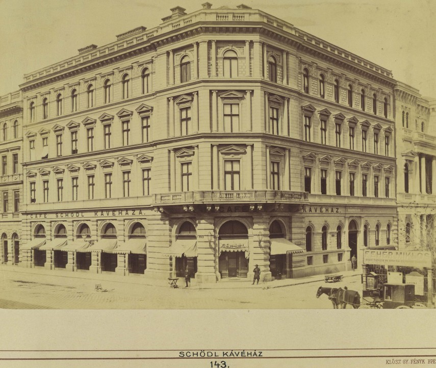 1880-táján, Főherceg Sándor (Bródy Sándor) utca és a Múzeum körút sarok, 8. kerület