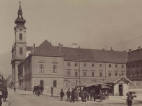 1900 táján, Bomba (Batthyány) tér, 1. kerület