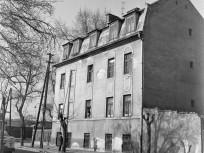1975, Forgách utca, a Röppentyű utca 59. számú sarokház oldala, 13. kerület