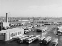 1975, Pomázi út, az Óbudai autóbuszgarázs, 3. kerület